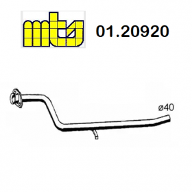 CENTRAL EXHAUST GAS PIPE FIAT PANDA 1100 4x4 MTS FOR 7746709